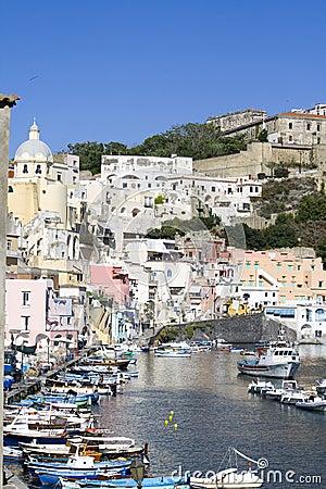 Procida, island in the mediterranean sea