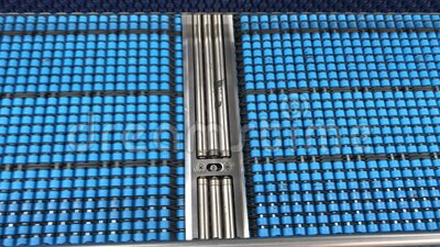 Producción industrial de botellas para bebidas Línea de trabajo de la compañía de vídeo línea deslizante interior Máquina interna ilustración del vector