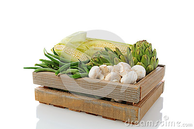 Produce Crate with Vegetavles