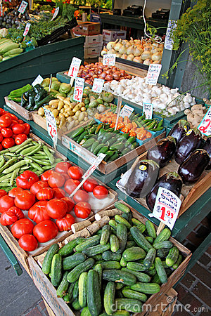 Produce market stand