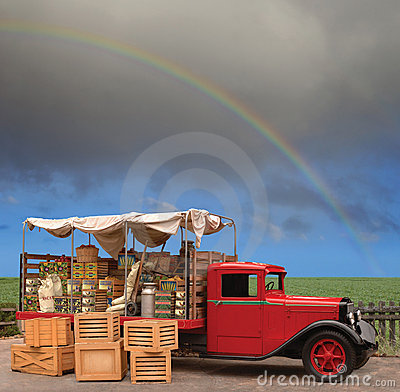 Free Produce Truck Royalty Free Stock Photography - 11185627