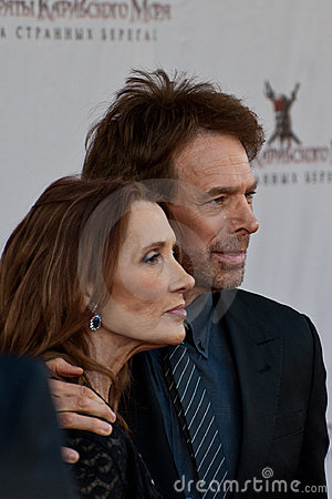 Producer Jerry Bruckheimer and wife Linda Editorial Photo