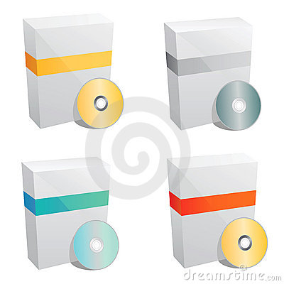 Product box template vector