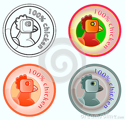Product Label Chicken Guarantee Royalty Free Stock Images - Image: 24699099