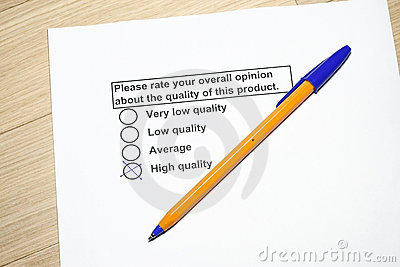 Product Survey on Quality