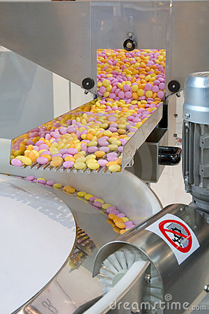 Production des bonbons