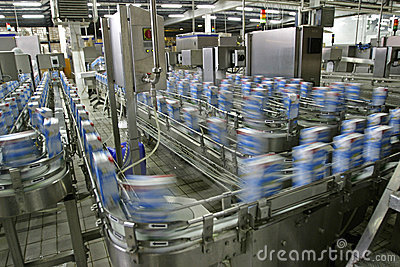 Production Line In Factory Stock Photography - Image: 8206482