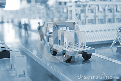 Production line model of the thermal power plant