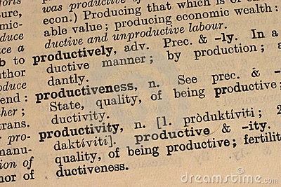 Productivity - business word