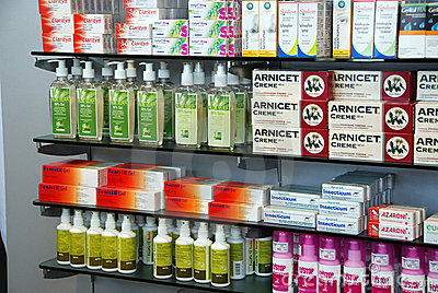 Products in Pharmacy Editorial Photo