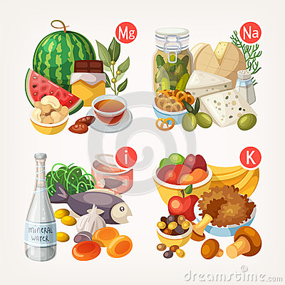 Free Products Rich With Vitamins And Minerals Stock Photography - 60442392