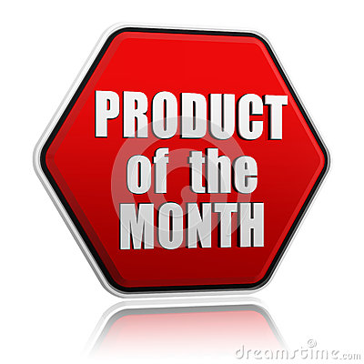 Produkt miesiąca czerwony guzik