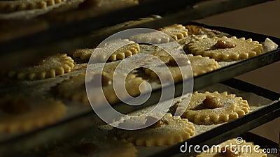 Produrre i biscotti Cuocia nel negozio video d archivio