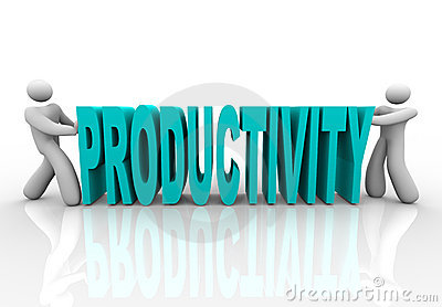 Produtividade - os povos empurram a palavra junto