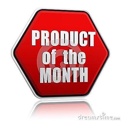 Produto do botão vermelho do mês
