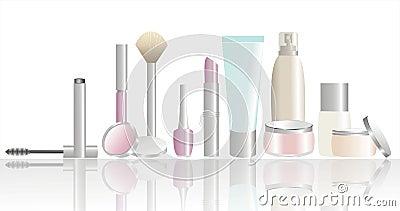 Produtos do cosmético e de beleza