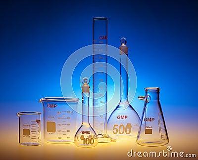 Produtos vidreiros químicos