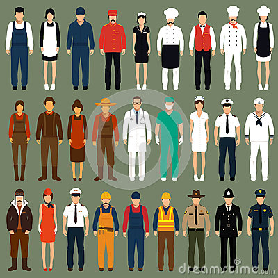 Free Profession People Uniform, Royalty Free Stock Image - 50955626