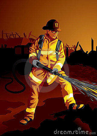 Profession set: Fire fighter