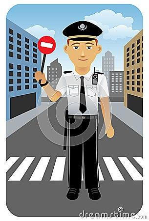 Profession set: Police officer