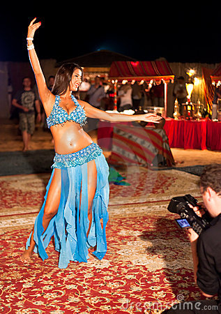 Professional Belly Dancer being filmed Editorial Photography