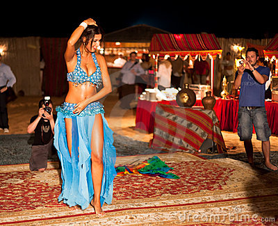 Professional Belly Dancer being shot Editorial Photography