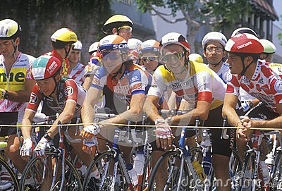 Professional bicycling racers Editorial Stock Image