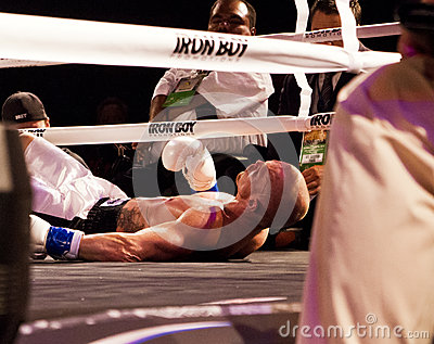 Professional Boxing Knock Down Editorial Image