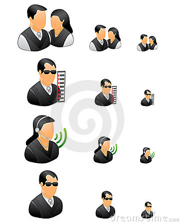 Professional business people icon set