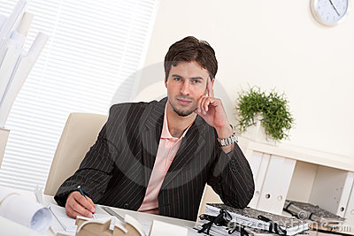 Professional Businessman Working At Office Stock Image - Image: 11539931