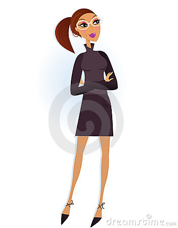 Professional Businesswoman isolated on white