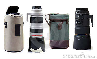 Professional camera lens and bags