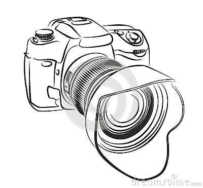 Professional Camera. Stock Vector - Image: 63391269