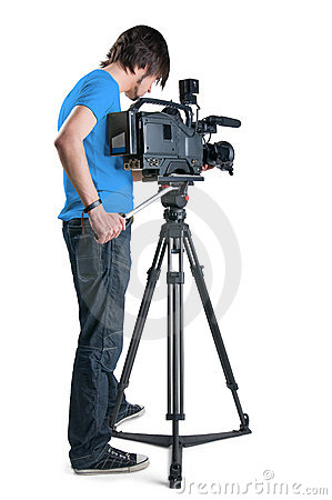 Professional cameraman.