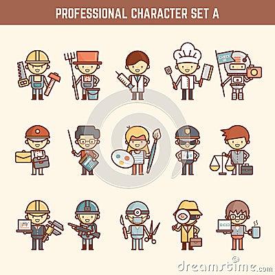 Free Professional Character Set Stock Photo - 55166750