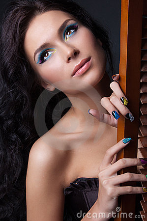 Free Professional Colourful Make-up And Manicure Royalty Free Stock Photo - 20299635