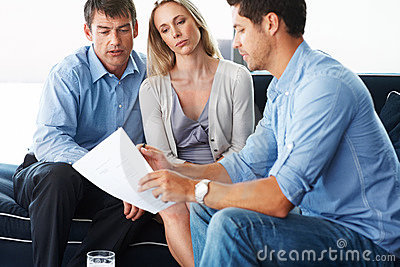 Professional consultant discussing investment plan