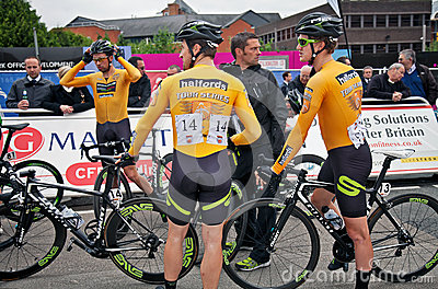 Professional cycling team Editorial Stock Image