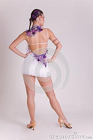 Professional dancer in dress