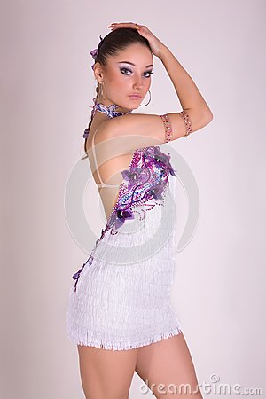 Professional dancer girl