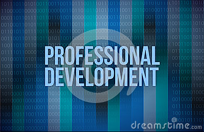 Professional development concept binary
