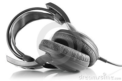 Professional Dj Headphones Stock Image - Image: 23182591