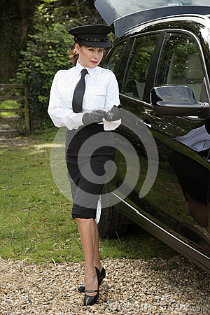 Car And Driver Subscription >> Professional Driver Putting On Driving Gloves Stock Photo ...