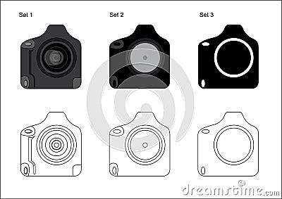 Professional DSLR Camera Icon