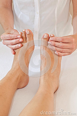Professional feet massage