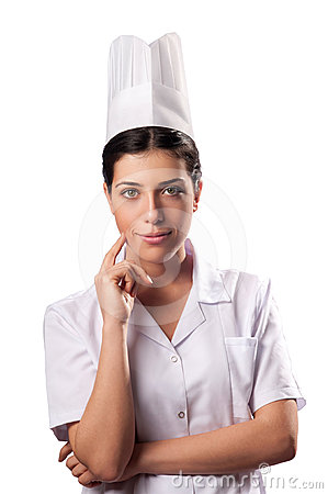 Isolated Beautiful Chef