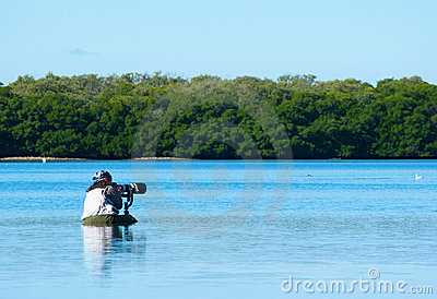 Professional female nature photographer