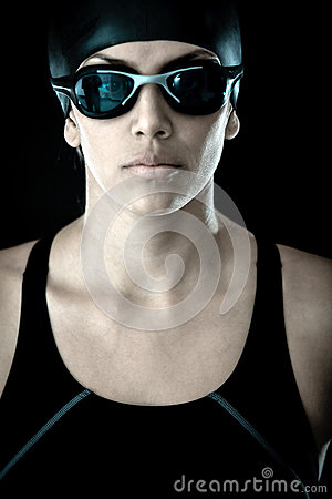 Professional Female Swimmer Stock Photos - Image: 25593133