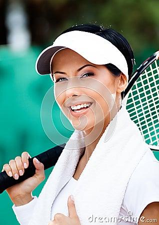 Professional female tennis player