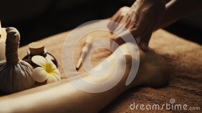 Professional foot massage close up. stock video footage